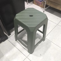 Bangku Baso / Kursi Plastik / Bangku Tinggi Hijau Life Star