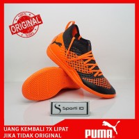 Sepatu Futsal Puma Future 2.3 Netfit IT - Black/Orange Original