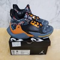 Sepatu Basket Nike Jordan Why Not Zero 2 Wolf Grey Orange