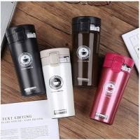 Termos Kopi Travel-Mug Mini Tahan Air Panas & Dingin Termos Stainless - cream