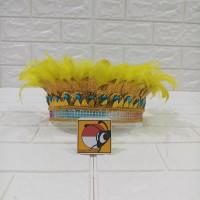 Mahkota topi bulu aksesoris kepala papua irian jaya tarian tari daerah