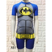 baju renang anak karakter BATMAN diving Tk USIA 5-9 TAHUN - M, abu kom kuning