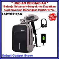 Tas Ransel Laptop Anti Maling Theft Smart Backpack USB Charger