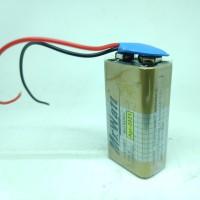 Baterai 9V Batre Kotak 9 Volt Battery Mr.WATT + Kancing Soket Premium