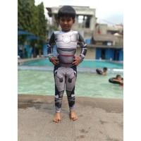 Baju Reanang Diving Anak laki Baru Robot Ironman Silver