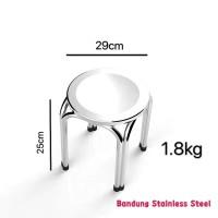 Bangku pendek Kursi stainless baso bulat stainless steel 25cm murah