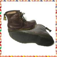 Sale Sepatu Boots Docmart Dr Martens Pria Brown Kulit