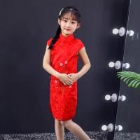 dress cheongsam dress congsam baju imlek anak perempuan