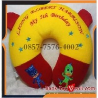Souvenir Bantal Leher Custom plus ACC Kuping
