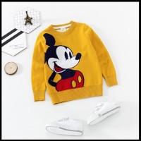 Jaket Sweater Rajutan Anak Unisex Karakter Mickey Mo Import (ZH-JS003)