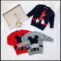 Jaket Sweater Rajutan Anak Unisex Mickey Hands Import (ZH-JS008)