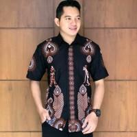 kemeja batik pria modern.kemeja wayang jokowi