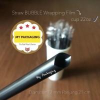 Sedotan Bubble BOBA Steril Bungkus Plastik Lurus Runcing 12mm 21cm TC