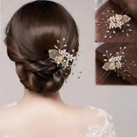 Aksesoris Sanggul Hair Pin Bunga Hiasan Rambut Pesta Pengantin H18