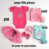 Baju Bayi Jumper Rok Anak Perempuan Little Princes Set 4in1 332187