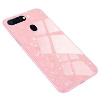 CASE OPPO F7/F9/A3S (A5) SHINY TEMPERED SHELL GLASS BACK COVER CASING