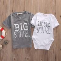 Kaos T-Shirt Anak Laki/Romper Bayi Lengan Pendek Matching/Kembar