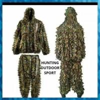 Murah Ghillie Suit 3D Camo Kamuflase Gili Suit Gilie Suit Jaket Baju