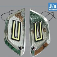 Datsun GO Cover Lampu Kabut JSL Krom-Fog Lamp Cover Chrome with DRL