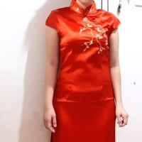 CHONGSAM RED WANITA - L