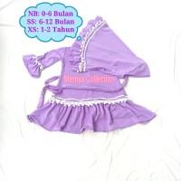 baju gamis anak balita / busana muslim bayi perempuan Newborn new born