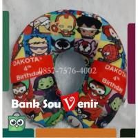 Custom Souvenir Bantal Leher Printing