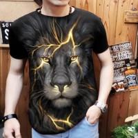 kaos spandex T-Shirt Distro Pria macan petir /real pict