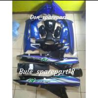 Honda supra fit lama cover body full set biru hitam plus striping