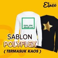 Sablon polyflex satuan GILDAN LONG SLEEVE kaos lengan panjang S M L XL