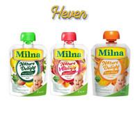 Milna Nature Delight Fruit Puree 80g / Sari buah makanan bayi / Mpasi