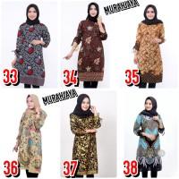 tunik batik songket / baju batik kantor wanita / baju kerja seragam 08