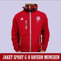 Promo Jaket sport GO Bayern Munchen Hoodie Semi Waterproof Windbreak