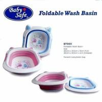 Baby Safe Foldable Wash Basin Bak Mandi Bayi Lipat (Pink Blue)
