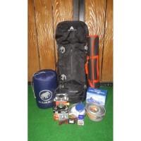 Paket Hemat Perlengkapan Gunung Avtech Levuca 60L Tenda Monodome SB