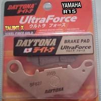Kampas rem depan YAMAHA R15 VVA V3 DAYTONA steel fibers gold