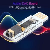 Hw-646 PCM2704 Board Decoder Sound Card Audio DAC USB to 3.5mm