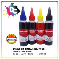 Tinta Refill Isi Ulang 100ml Printer HP Canon Epson Brother Inknesia