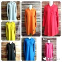 S-XL Baju Kaos Polos Muslimah Polo Lacoste Panjang Syari Busui