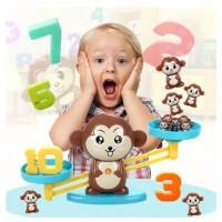Mainan Edukasi Monkey Balance Math Toy Game Timbangan Belajar Unik