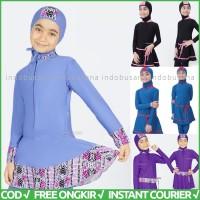 Baju Renang Anak Perempuan Muslim Usia SD Baju Renang Muslimah EDORA