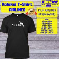 Baju Kaos T-Shirt Penerbangan SILK AIR   SINGAPORE AIRLINES GROUP - Putih