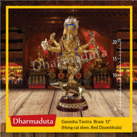 Ganesha Stand 11in / Jambhala Merah / Zambhala - Patung Arca Buddha