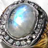 Batu cincin Biduri Bulan Air Laut Ring8 (dim15mm)