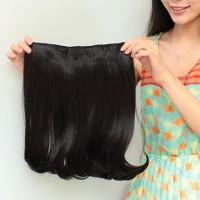 SHORT pendek 40cm Big Layer Hair Extension Clip Hairclip Lurus Blow