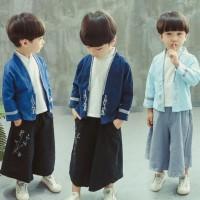 HOT SALE Import Baju Kostum Cheongsam Kimono Anak Laki Jepang Imlek