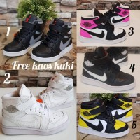 Sepatu Anak Nike High size 30 - 35 #pria wanita putih hitam sekolah