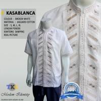 Baju Koko Putih, Baku koko lengan Pendek Kasablanca - Putih, S