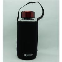 Botol Air Minum Portable Bahan Kaca Transparan Ukuran 1000ML jy 632