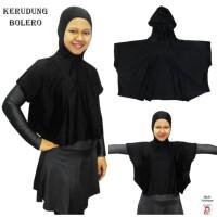 Kerudung Bolero - Kerudung Rompi Baju Renang Muslim - Hitam Pink
