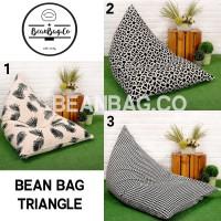 Bean Bag Triangle Motif Keren Murah Meriah + Isinya, WATERPROOF
